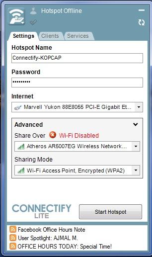 Как из ноутбука сделать wifi роутер windows xp